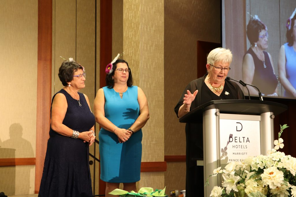 Margaret Ann thanking Laurie and Elaine